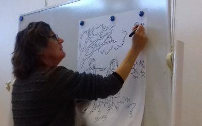 Illustrator op bezoek in groep 3a